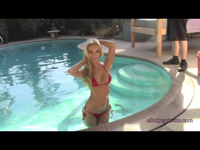 Aneta from Alluring Vixens is one of the hottest blondes you may ever come across online. In this video she is in the pool wearing a tiny and revealing 2 piece red bikini. You can find all of her sexy galleries & videos only in 1 spot: Alluring Vixens. Make sure you get your subscription right now to download every amazing inch of this beauty.