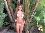 Rosalee in a tiny bikini